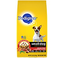 PEDIGREE Dog Food Dry For Small Dog Nutrition Grilled Steak & Vegetable Flavor Bag - 3.5 Lb