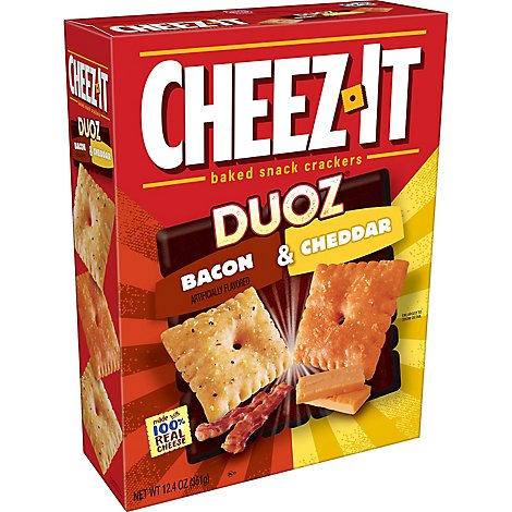 Cheez-It Baked Snack Cheese Crackers Bacon & Cheddar - 12.4 Oz