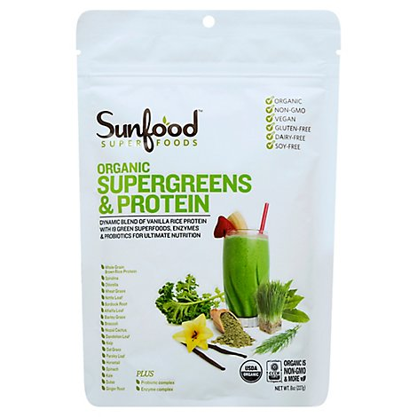 Supergreens And Protein - 8 Oz