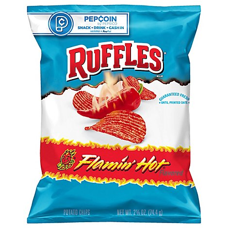 Ruffles Potato Chips Flamin Hot - 2.62 Oz
