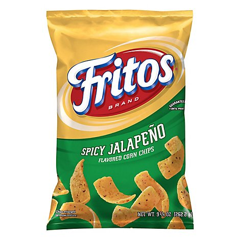 Fritos Corn Chips Flavored Spicy Jalapeno - 9.25 Oz