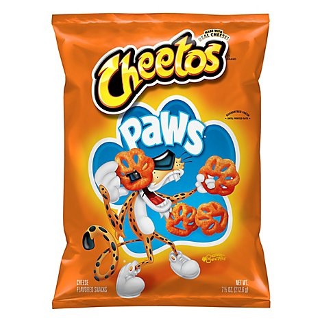 CHEETOS Snacks Cheese Flavored Paws - 7.5 Oz