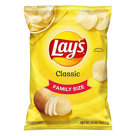 Lays Potato Chips Classic Family Size! - 10 Oz