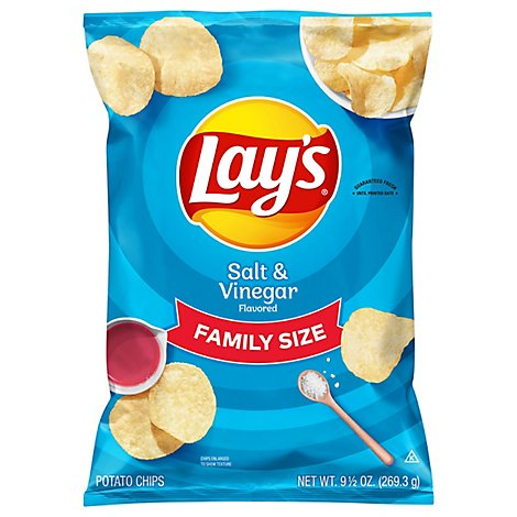 Lays Potato Chips Salt & Vinegar - 9.5 Oz