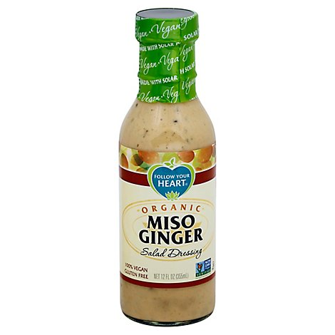 Follow Your Heart Dressing Miso Ginger Organic - 12 Oz