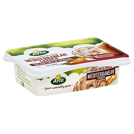 Arla Cream Cheese Spread Mediterranean Garden - 7 Oz