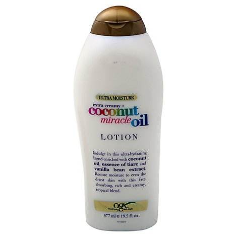 OGX Lotion Coconut Miracle Oil Extra Creamy Ultra Moisture - 19.5 Fl. Oz.