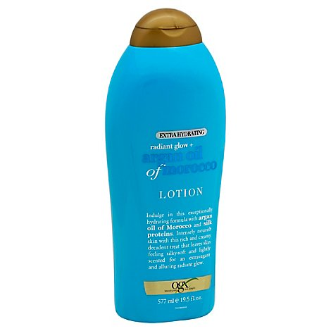 OGX Lotion Extra Hydrating Radiant Glow + Argan Oil of Morocco - 19.5 Fl. Oz.