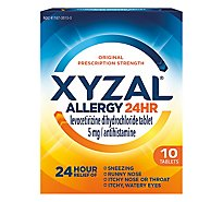 XYZAL Allergy Antihistamine Tablets 24 Hr Original Prescription Strength 5 mg - 10 Count