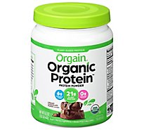 Orgain Organic Protein Plant Based Powder Creamy Chocolate Fudge - 1.02 Lb