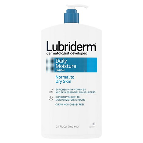 Lubiderm Lotion Daily Moisture Normal To Dry Skin Fragrance Free - 24 Fl. Oz.