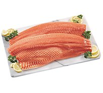 Seafood Service Counter Fish Salmon Atlantic Fillet Color Added Farmed Fresh - 1.50 Lbs.