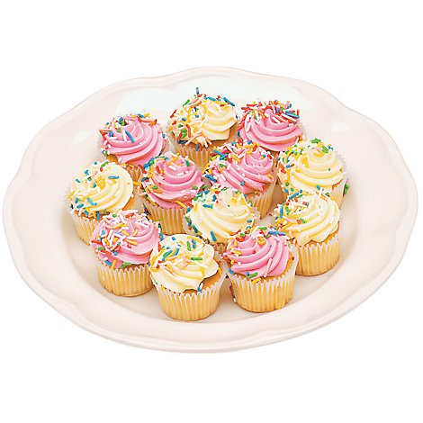 Bakery Cupcake Assorted Variety 10 Count - Each
