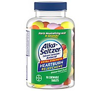 Alka-Seltzer Heartburn Relief Chewable Tablets Assorted Fruit Extra Strength - 90 Count