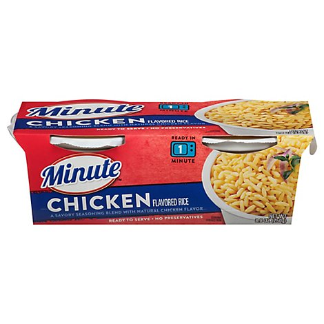 Minute Ready to Serve! Rice Mix Microwaveable Chicken Flavor Cup - 2-4.4 Oz