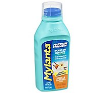 Mylanta Liquid Antacid + Anti-Gas Maximum Strength Vanilla Caramel - 12 Fl. Oz.