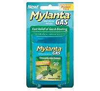 Mylanta Anti-Gas Chewable Mini-Tablets Arctic Mint Convenient Pocket Pack - 50 Count