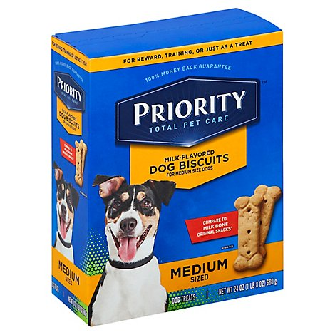 Signature Pet Care Dog Biscuits Milk Flavored Medium Sized - 24 Oz