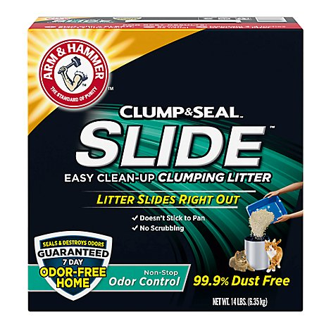 ARM & HAMMER Slide Cat Litter Clumping Easy Clean Up - 14 Lb