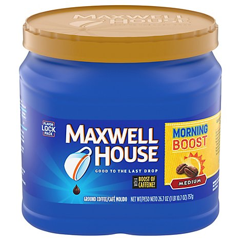 Maxwell House Coffee Ground Medium Morning Boost - 26.7 Oz