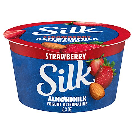 Silk Yogurt Alternative Dairy Free Almondmilk Strawberry - 5.3 Oz
