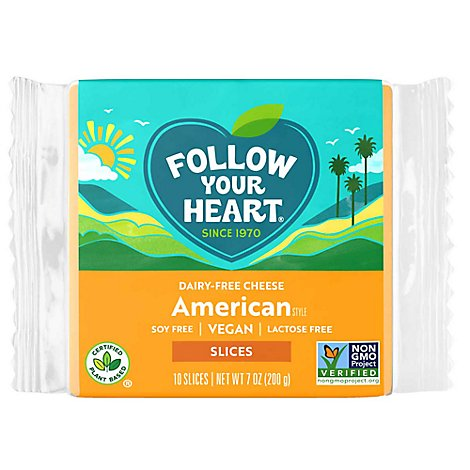 Follow Your Heart Dairy Free American Style Slices Cheese Alternative - 7 Oz