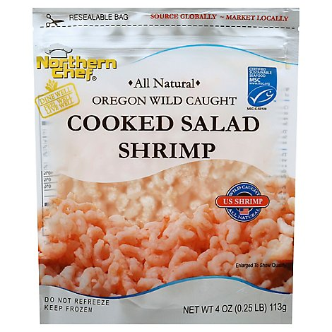 Northern Chef Oregon Wild Caught Cooked Salad Shrimp - 4 Oz.