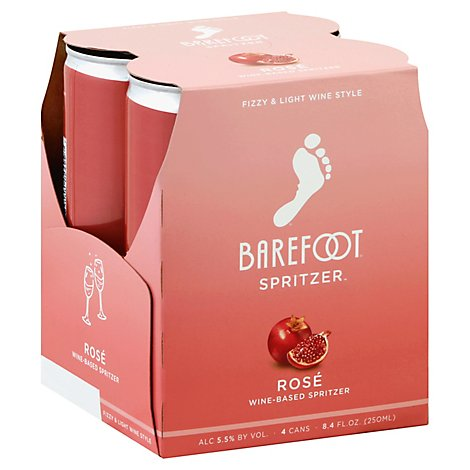 Barefoot Spritzer Rose Wine Cans - 4-250 Ml