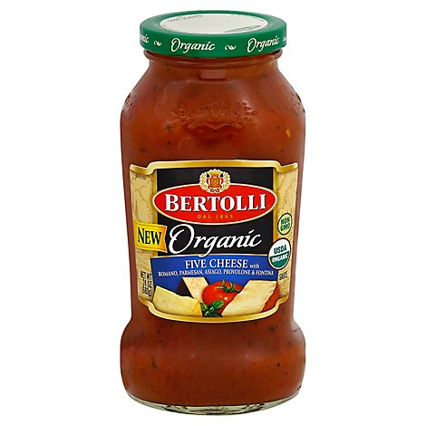 BERTOLLI Pasta Sauce Organic Five Cheese Jar - 24 Oz