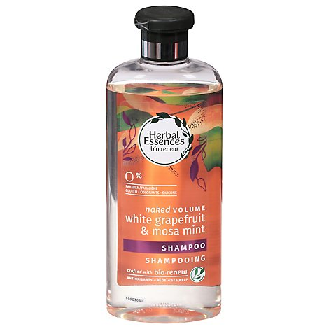Herbal Essences Bio Renew Shampoo Naked Volume White Grapefruit & Mosa Mint - 13.5 Fl. Oz.