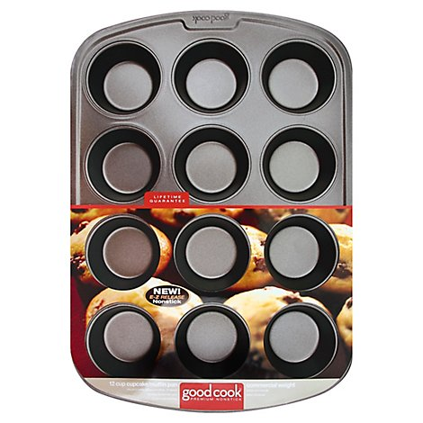 Good Cook Pan Cupcake Muffin Premium Nonstick 12 Cup - Each