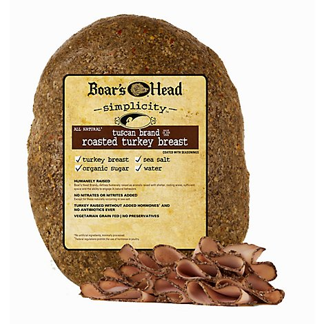 Boars Head Turkey Tuscan Natural Fresh Sliced - 0.50 LB
