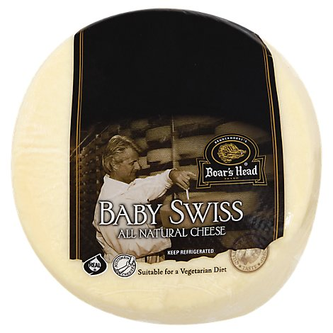Boars Head Cheese Swiss Baby Swiss Fresh Slice - 0.50 LB