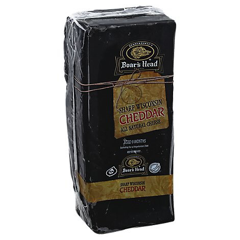 Boars Head Cheese Cheddar Wisconsin Yellow Sharp Fresh Slice - 0.50 LB