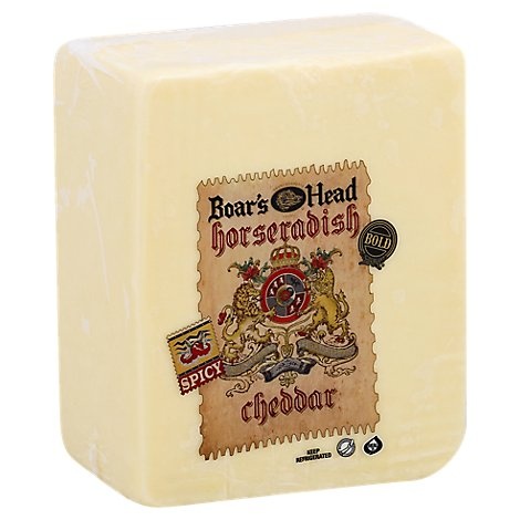 Boars Head Cheese Cheddar Horseradish Fresh Slice - 0.50 LB