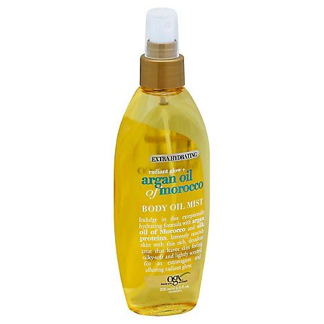 OGX Body Oil Mist Extra Hydrating Radiant Glow + Argan Oil of Morocco - 6.8 Fl. Oz.
