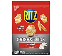 RITZ Potato & Wheat Chips Crisp & Thins Oven Baked Not Fried Sea Salt - 7.1 Oz