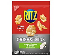 RITZ Potato & Wheat Chips Crisp & Thins Oven Baked Not Fried Cream Cheese & Onion - 7.1 Oz
