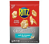RITZ Potato & Wheat Chips Crisp & Thins Oven Baked Not Fried Salt & Vinegar - 7.1 Oz