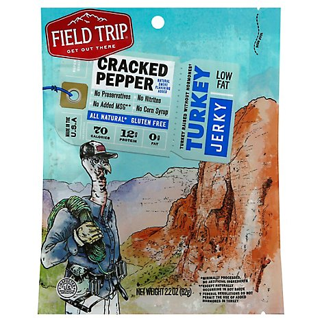 Field Trip Turkey Jerky Cracked Pepper - 2.2 Oz