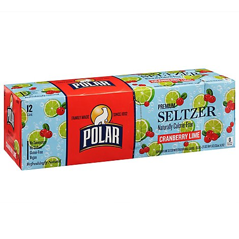 Polar Seltzer Cranberry Lime - 12-12 Fl. Oz.
