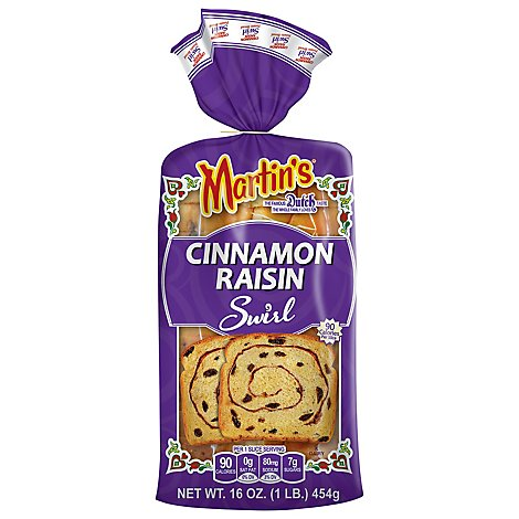 Martins Cinnamon Raisin Swirl Potato Bread - 16 Oz