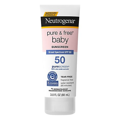 Neutrogena Pure & Free Sunscreen Baby Spf 50 - 3 Fl. Oz.