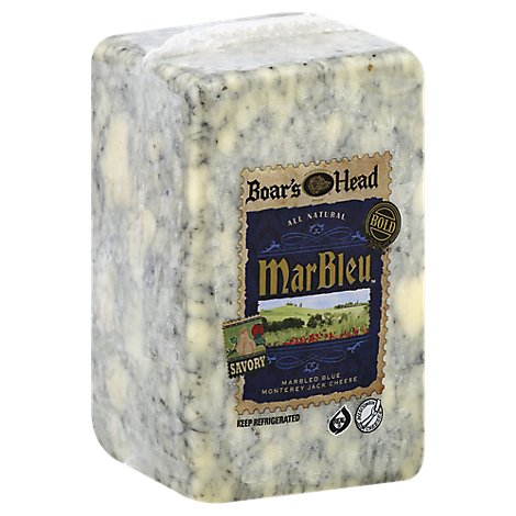 Boars Head Cheese Marbleu Monterey Jack Cheese Fresh Slice - 0.50 LB