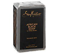 SheaMoisture Soap Bar African Black With Shea Butter - 8 Oz