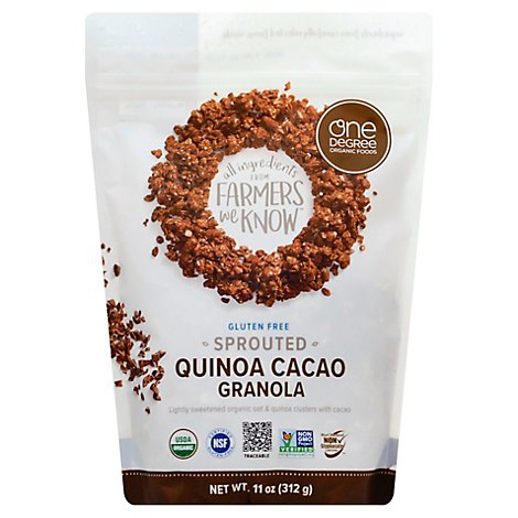 One Degree Organic Foods Granola Sprouted Oat Quinoa Cacao - 11 Oz
