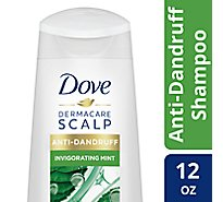 Dove Dermacare Scalp Shampoo Anti-Dandruff Invigorating Mint - 12 Fl. Oz.