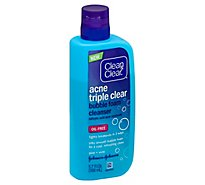 Clean & Clear Acne Cleanser Triple Clear Bubble Foam - 5.70 Fl. Oz.