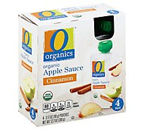 O Organics Organic Apple Sauce Cinnamon Pouches - 4-3.17 Oz