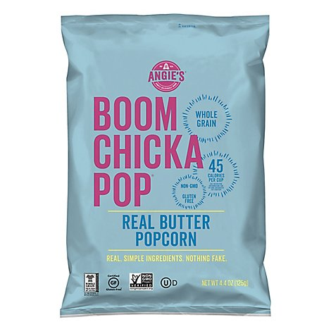 Angies BOOMCHICKAPOP Popcorn Real Butter - 4.4 Oz
